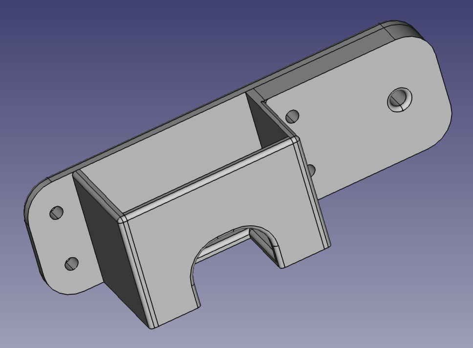 Outdoor mount down side stl
